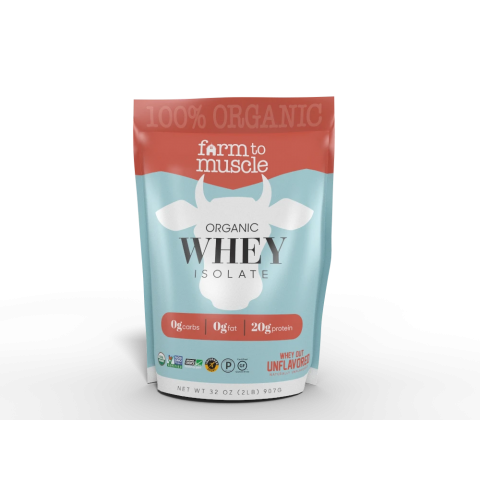 Farm to Muscle - Organic Whey Protein Powder